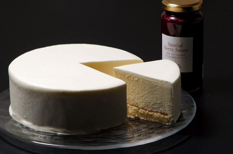 五千尺ホテル上高地スイーツカフェ&バーLOUNGEのレアチーズケーキ