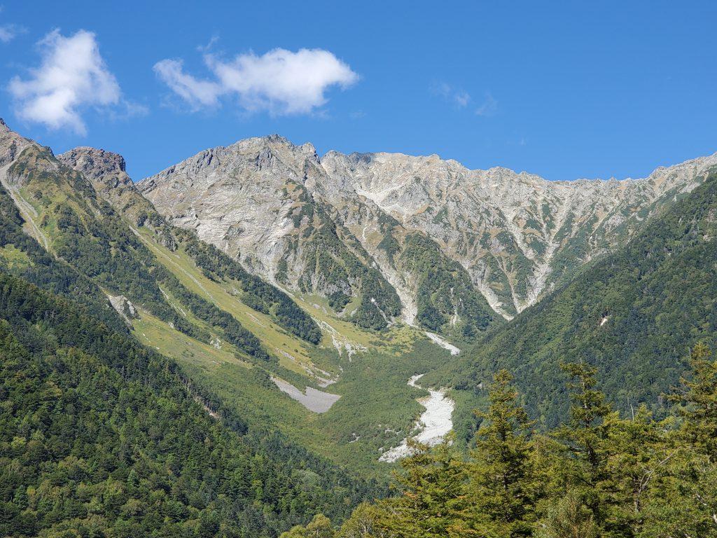 穂高連峰:紅葉の始まり